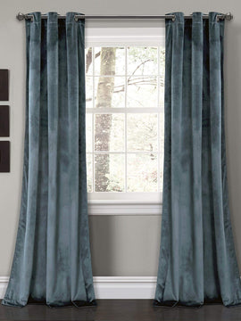 PREMIUM VELVET CURTAINS PAIR- SLATE