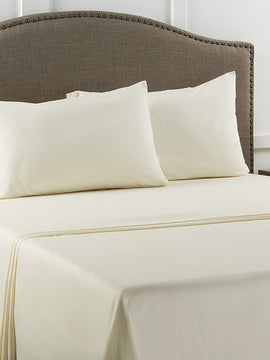 BED SHEET PLAIN COTTON 3PCS-IVORY