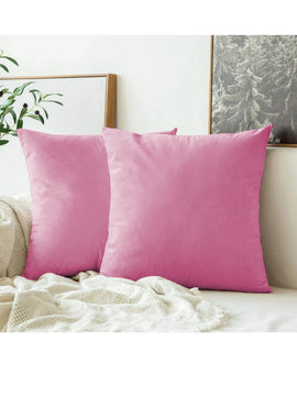 LUXURY VELVET CUSHIONS PACK OF 2-PINK