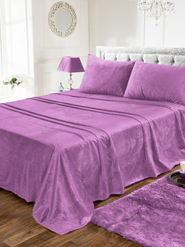 LUXURY VELVET BED SHEET 3PCS-LILAC