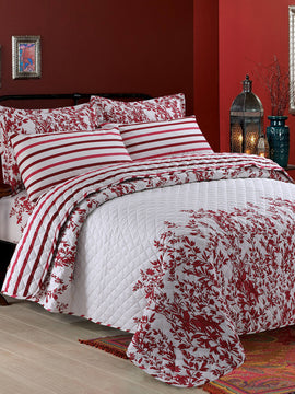 COMFORTER BED SPREAD 6 PCS-MAROON
