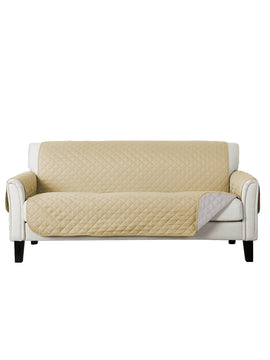 SOFA COVER-BEIGE WITH FREE TOWEL