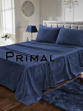 LUXURY VELVET BED SHEET 3PCS-BLUE