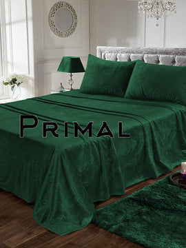 LUXURY VELVET BED SHEET 3PCS-DARK GREEN