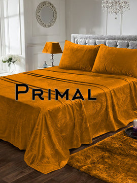LUXURY VELVET BED SHEET 3PCS-HONEY