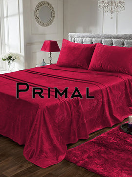 LUXURY VELVET BED SHEET 3PCS-MAROON