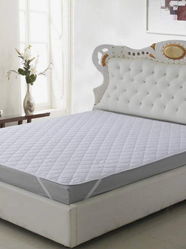 QUILTED WATERPROOF MATTRESS PAD WITH FREE TOWEL