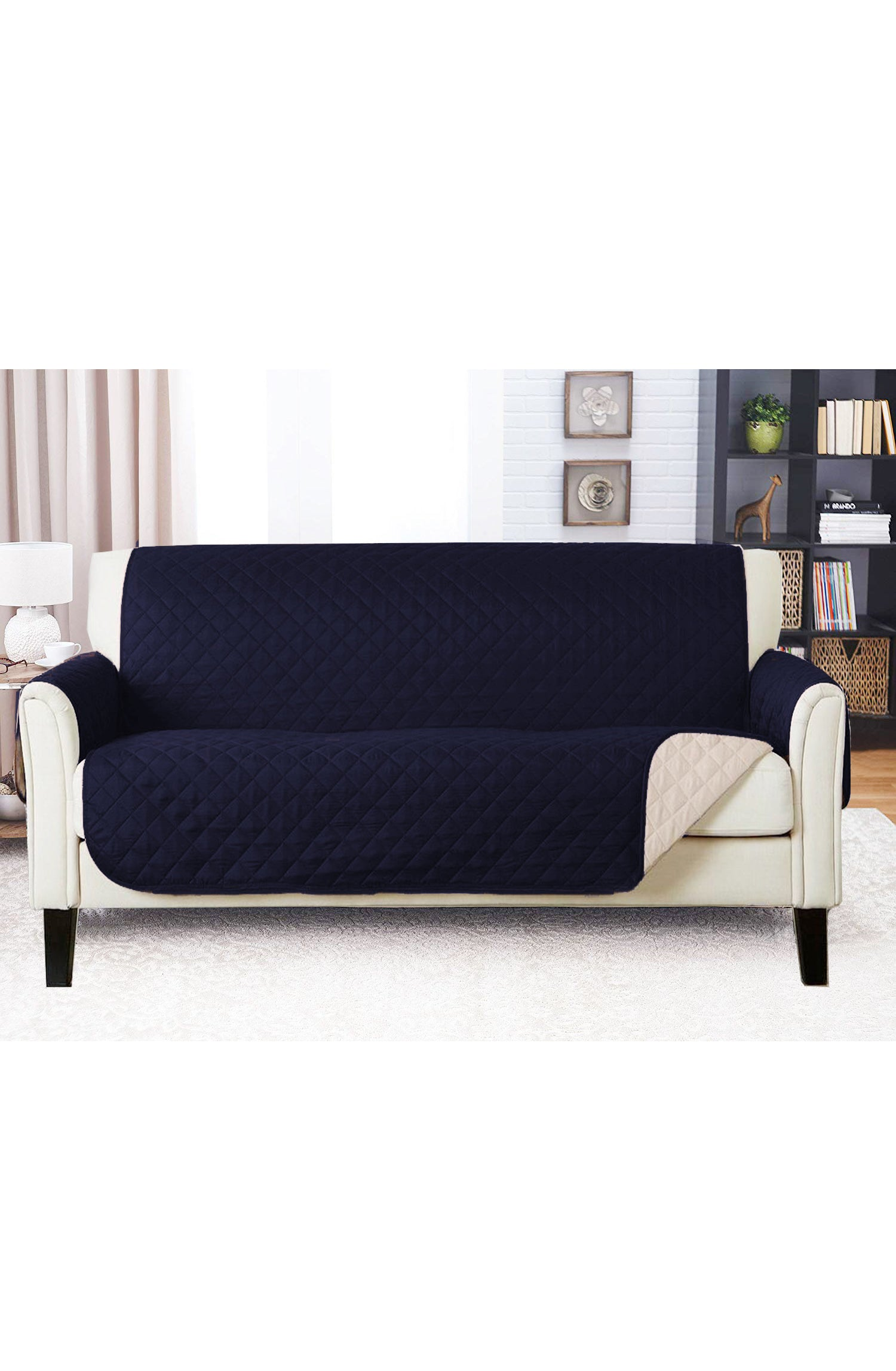 Picture of: Sofa Cover Navy Blue Primal