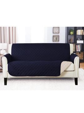 SOFA COVER-NAVY BLUE WITH FREE TOWEL
