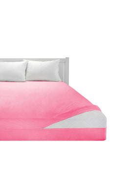 COTTON MATTRESS COVER ZIPPER-PINK - PRIMAL