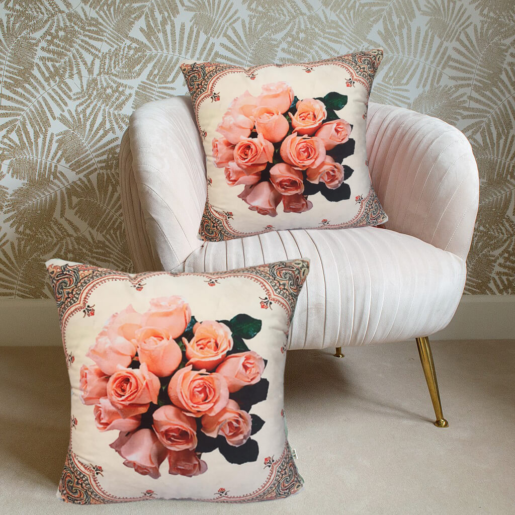 LUXURY VELVET CUSHIONS -FLORAL