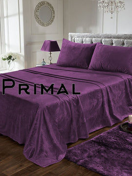 LUXURY VELVET BED SHEET 3PCS-PURPLE
