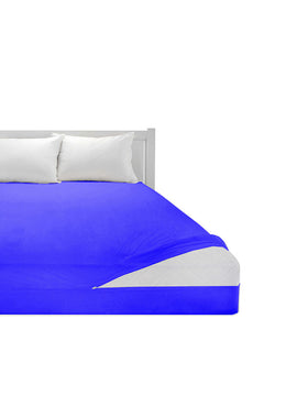 COTTON MATTRESS PROTECTOR ZIPPER-ROYAL BLUE - PRIMAL