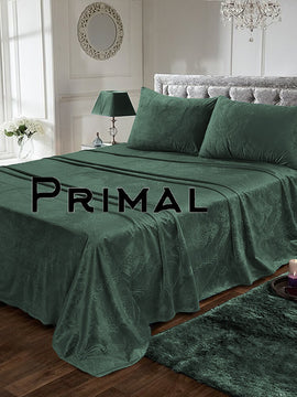LUXURY VELVET BED SHEET 3PCS-SEA GREEN