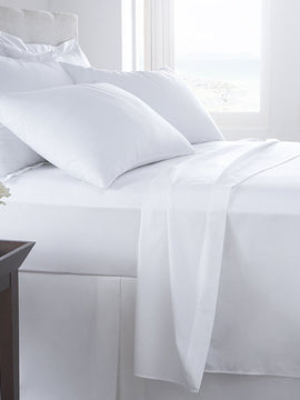 BED SHEET PLAIN COTTON 3PCS -WHITE
