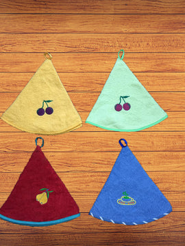 KITCHEN ROUND TOWELS 4PCS-MIX COLORS - PRIMAL