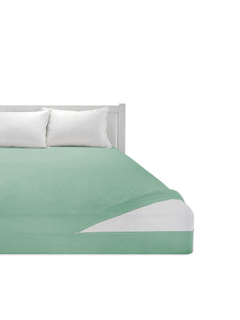 COTTON MATTRESS PROTECTOR ZIPPER- GREEN - PRIMAL