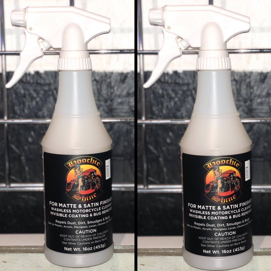 Hoochie Shine Matte & Satin Finishes 16 Oz Spray Bottle-(2 for $30.00)