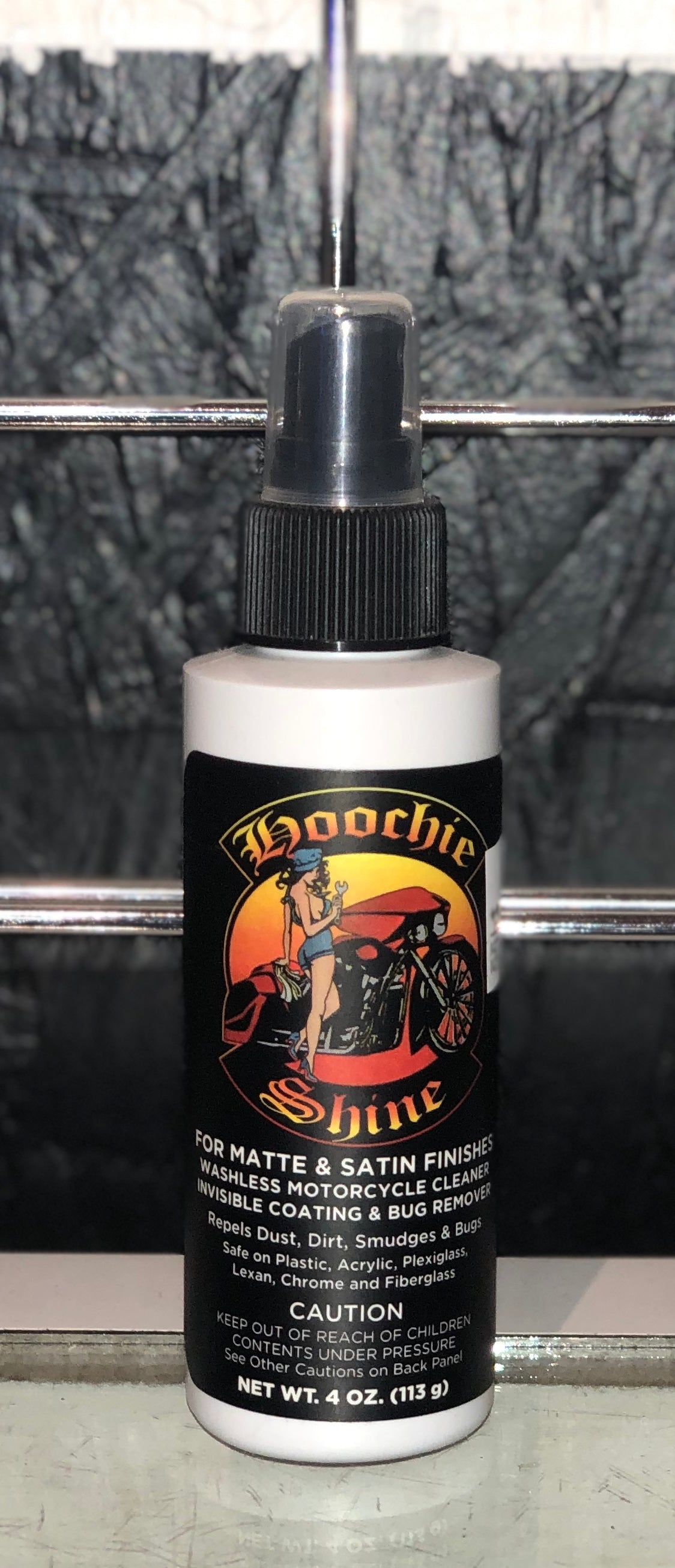 Hoochie Shine Matte Finish 4 Oz Spray Bottle