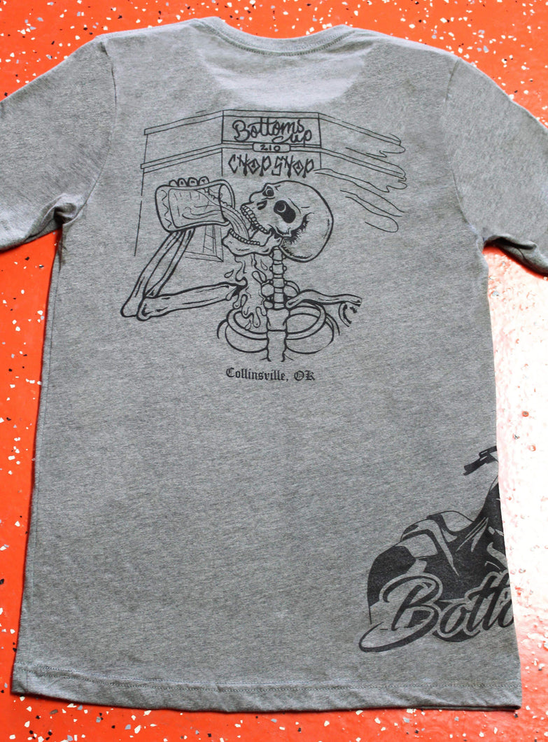 Bottoms Up Men's Grey T-Shirt Regular