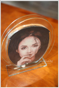 Sand Portrait Drawing Lusty Single Face LS3(18*25)