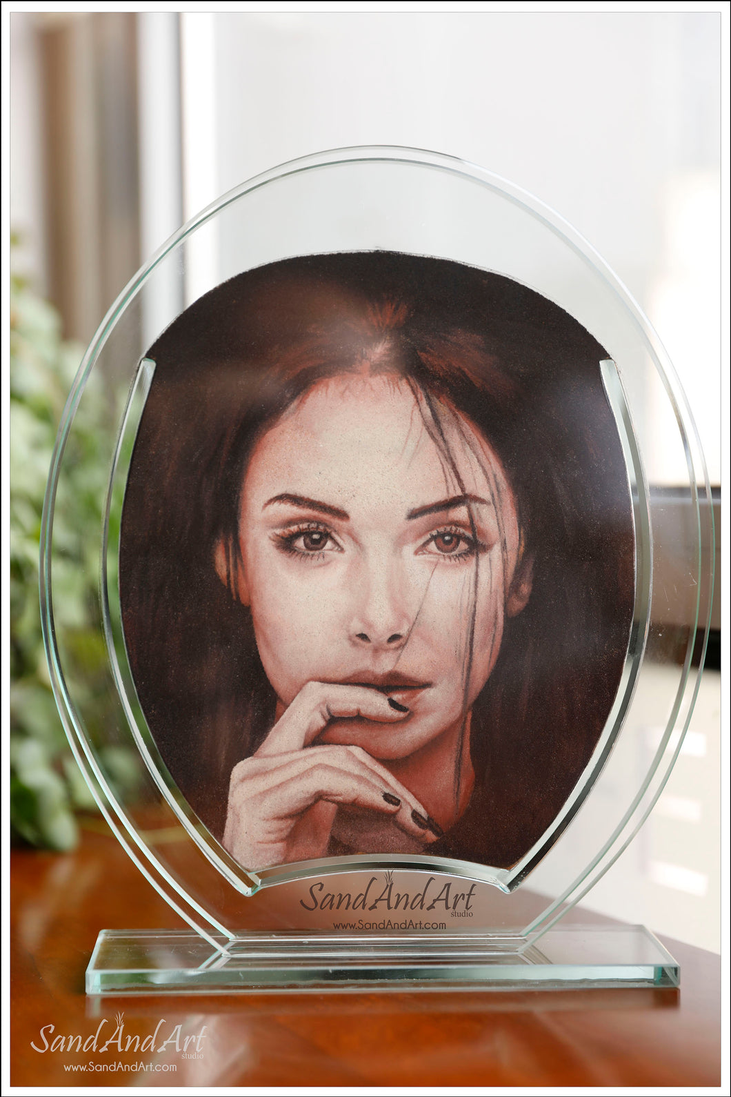 Your Photo Into Glass Vase by Sand  9.8