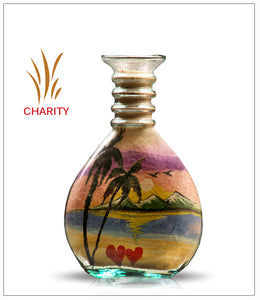 Sand Art Designs in bottle - Charity - FREE SHIPPING