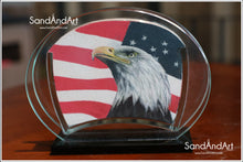 "Load image into Gallery viewer, Upload Your Photo to convert Sand Portrait Into Glass Vase by Sand  5.11"" x 7.0""  - FREE SHIPPING"