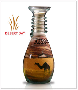 Colored sand bottle Gift Desert Day  - FREE SHIPPING