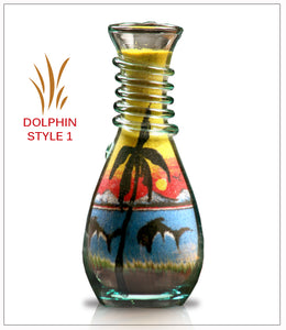 Unique Gift Sand Art Bottle Gift Dolphin  - FREE SHIPPING