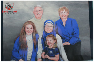 Personalize Your Family Picture to Sand Portrait - FREE SHIPPING