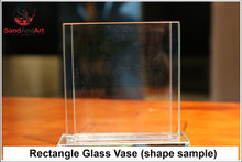 "Load image into Gallery viewer, Personalize Your Picture into Glass Vase by Sand 7.0""x9.8"" - FREE SHIPPING"