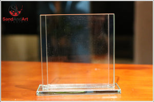 "Custom Your Photos into Glass Vase by Sand 3.5""x4.7"" - Customize With Your Own Picture and/or Text -FREE SHIPPING"