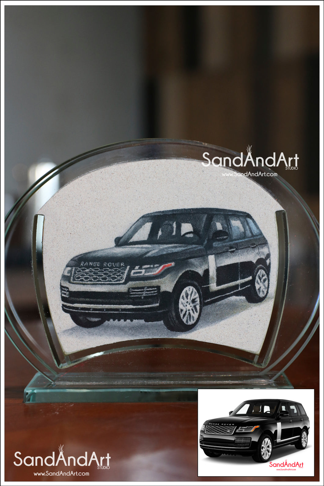 Upload Your Photo to convert Sand Portrait Into Glass Vase by Sand  5.11