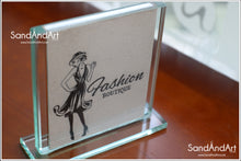"Load image into Gallery viewer, Your Photo Into Glass Vase by Sand  5.11"" x 5.11""  - FREE SHIPPING"