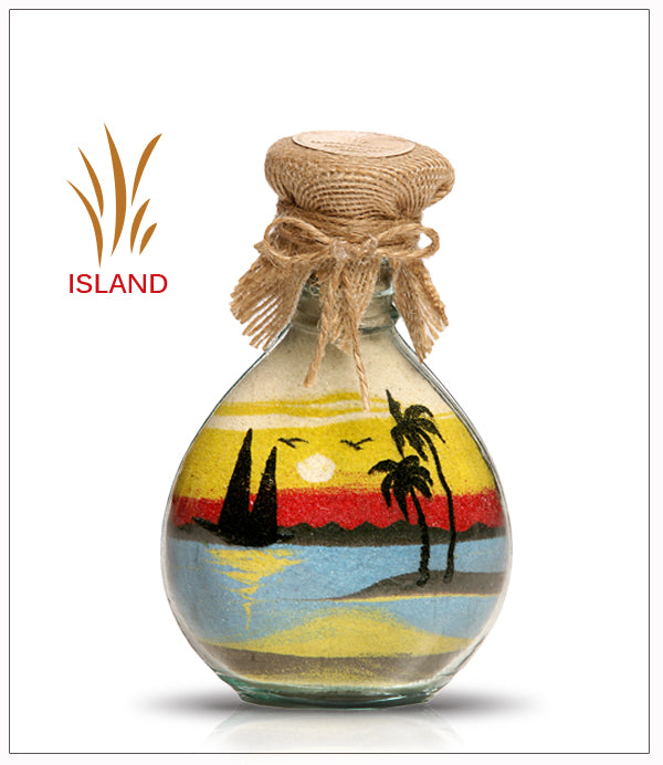 Sand Art in Bottle Gift Island - FREE SHIPPING