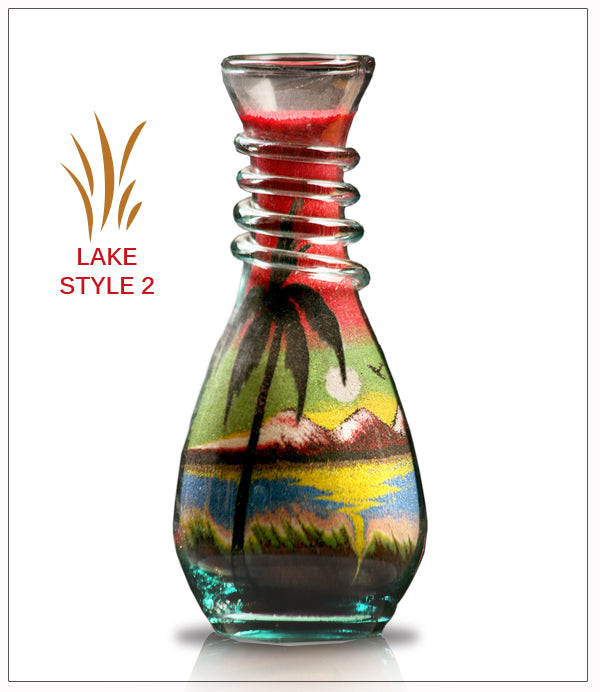 Sand Art in Glass Gift - Lake  - FREE SHIPPING