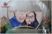 "Load image into Gallery viewer, Custom Your Photos into Glass Vase by Sand 9.8""X11.8"" - Customize With Your Own Picture and/or Text  - FREE SHIPPING"