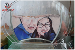 "Custom Your Photos into Glass Vase by Sand 9.8""X11.8"" - Customize With Your Own Picture and/or Text  - FREE SHIPPING"