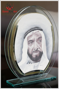 "Personalize your Photo to Sand Portrait into Glass-Vase ( 7.0""x9.8"" ) -FREE SHIPPING"