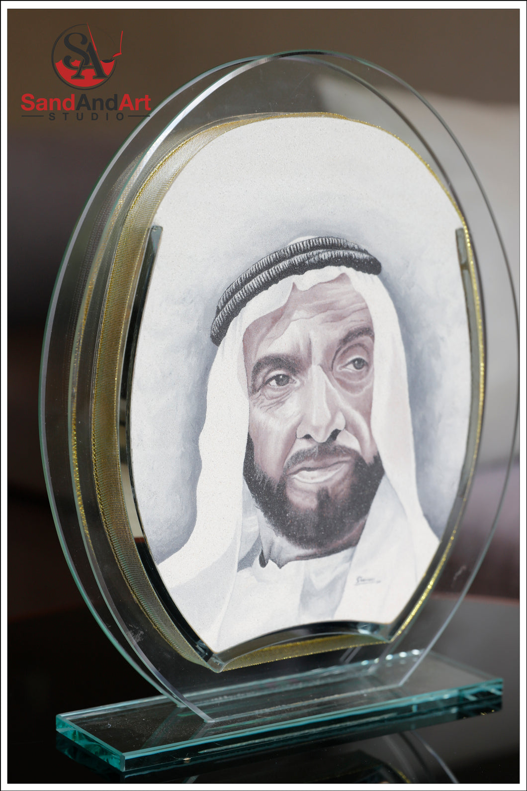 Personalize your Photo to Sand Portrait into Glass-Vase ( 7.0