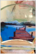 "Load image into Gallery viewer, Custom Landscape Picture to Sand Portrait into Glass Vase 5.1""x7.0""-FREE SHIPPING"
