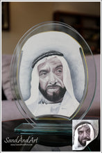 "Load image into Gallery viewer, Personalize your Photo to Sand Portrait into Glass-Vase ( 7.0""x9.8"" ) -FREE SHIPPING"