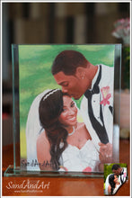 "Load image into Gallery viewer, Personalize Your Picture to Sand Portrait into Glass Vase 11.8x13.7"", Unique Photo gift - FREE SHIPPING"