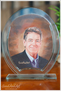 "Personalize Your Picture into Glass Vase by Sand 7.8""x9.8""  - FREE SHIPPING"