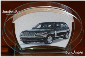"Upload Your Photo to convert Sand Portrait Into Glass Vase by Sand  5.11"" x 7.0""  - FREE SHIPPING"