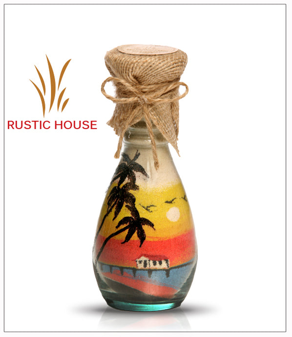Sand Glass Bottles Gift - Rustic House - FREE SHIPPING