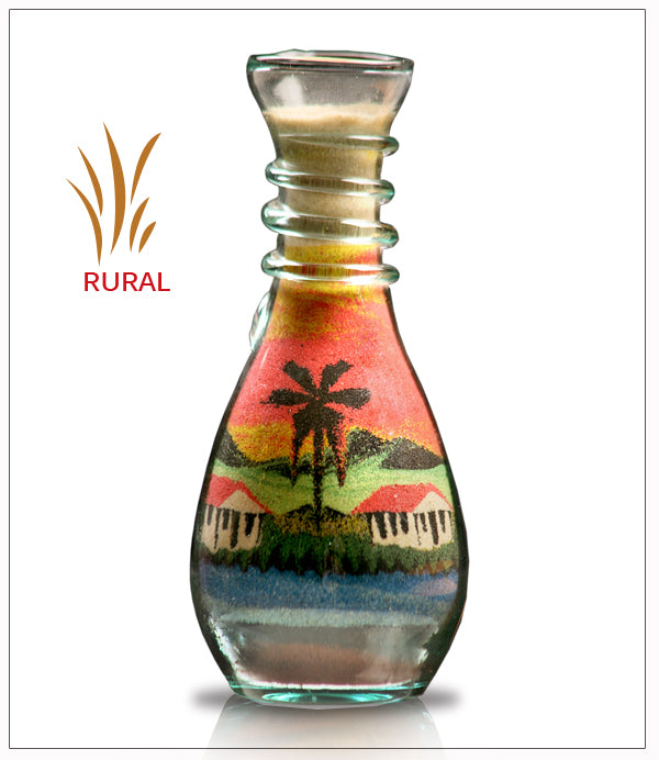 Glass Sand Art Bottles | Free Shipping