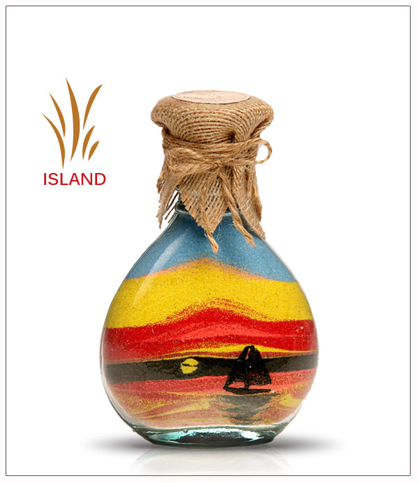 Colored Sand Bottle Sailing Boat