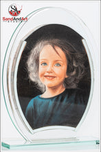 "Load image into Gallery viewer, Personalize Your Photo to Sand Portrait 7.0""x9.8"" Custom Your Photo into Glass Vase by Sand  -FREE SHIPPING"